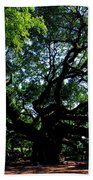 The Angel Oak In Summer Beach Towel