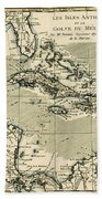 The Antilles And The Gulf Of Mexico Beach Towel by Guillaume Raynal