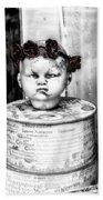 The Antique Doll's Head Beach Towel