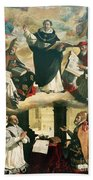 The Apotheosis Of Saint Thomas Aquinas Beach Towel by Francisco de Zurbaran