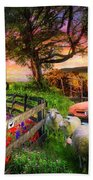 The Appalachian Farm Life In Beautiful Morning Light Beach Towel