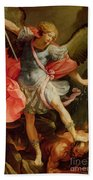 The Archangel Michael Defeating Satan Beach Sheet