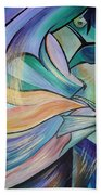The Art Of Belly Dance Beach Towel