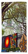 The Art Of Jackson Square Beach Towel