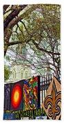 The Art Of Jackson Square Beach Sheet