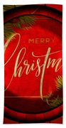 The Art Of Vhristmas Cheer Beach Towel