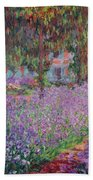 The Artists Garden At Giverny Beach Towel