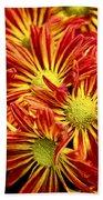 Chrysanthemum Bouquet Beach Towel