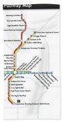 The Atlanta Pubway Map Beach Sheet