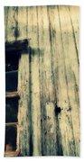 The Back Of An Old House On My Farm Beach Towel