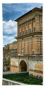 The Back Of The Pitti Palace In Florence Beach Towel