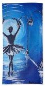 The Ballerina Dance Beach Towel