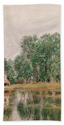 The Banks Of The Canal At Moret Sur Loing Beach Towel
