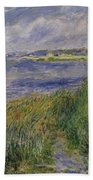 The Banks Of The Seine Champrosay Beach Towel
