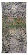 The Banks Of The Seine Beach Towel by Claude Monet