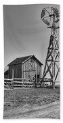 The Barn And Windmill Beach Towel