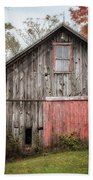 The Barn With The Red Door Beach Towel