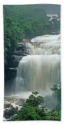 The Base Of Angel Falls In Canaima National Park Venezuela Beach Towel