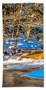 The Basin At Franconia Notch Beach Towel