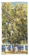 The Bathers Beach Towel by Childe Hassam