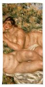 The Bathers Beach Towel by Pierre Auguste Renoir