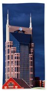 The Batman Building - Nashville Beach Towel