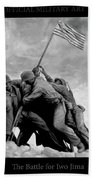 The Battle For Iwo Jima By Todd Krasovetz Beach Towel