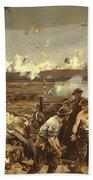 The Battle Of Vilmy Ridge Beach Towel