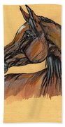The Bay Arabian Horse 10 Beach Towel