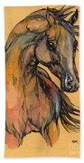 The Bay Arabian Horse 9 Beach Towel
