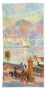 The Bay Of Naples With Vesuvius In The Background Beach Towel