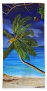 The Beach At Night Beach Towel