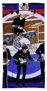 The Beatles - Live On The Ed Sullivan Show Beach Towel
