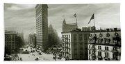 The Beautiful Flatiron Building Circa 1902 Beach Towel