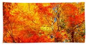 The  Beauty Of Autumn Beach Towel