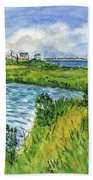 The Berkeley Island Pond Beach Towel