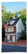 The Betsy Ross House Philadelphia Beach Towel by Bill Cannon