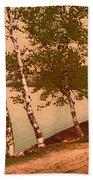 The Birches At Oak Birch Inn, Alton Bay, Lake Winnipesaukee, N. H.  Beach Towel