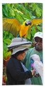 The Bird Lady At Ardastra Gardens Beach Sheet