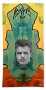 The Birth Of Rorschach The Inventor Of The Inkblot Test Beach Towel