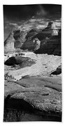 The Bisti Badlands - New Mexico - Black And White Beach Towel