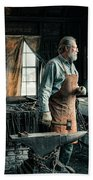 The Blacksmith - Smith Beach Towel by Gary Heller