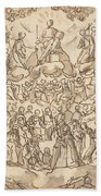 The Blessed In Paradise With The Virgin And St. John The Baptist Before God Beach Towel