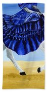 The Blue And The White - Princess Starliyah Riding Candis Beach Towel