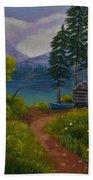 The Blue Canoe Beach Towel