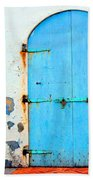 The Blue Door Shutters Beach Towel