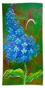 The Blue Flower Beach Towel