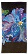The Blue Flowers Beach Towel