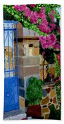 The Blue Gate  Beach Towel