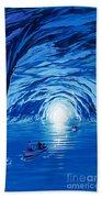 The Blue Grotto In Capri By Mcbride Angus  Beach Towel by Angus McBride